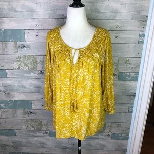 Lucky brand peasant top size S